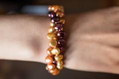 Fuksijas, bronzas pērles