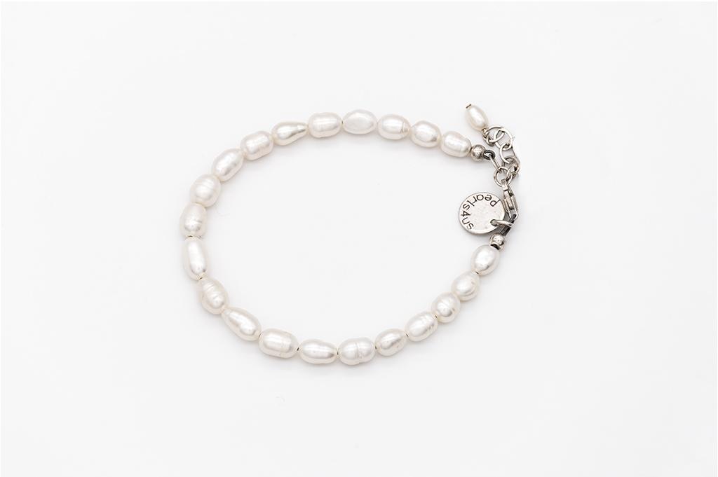 Baltās pērles- rokassprādze