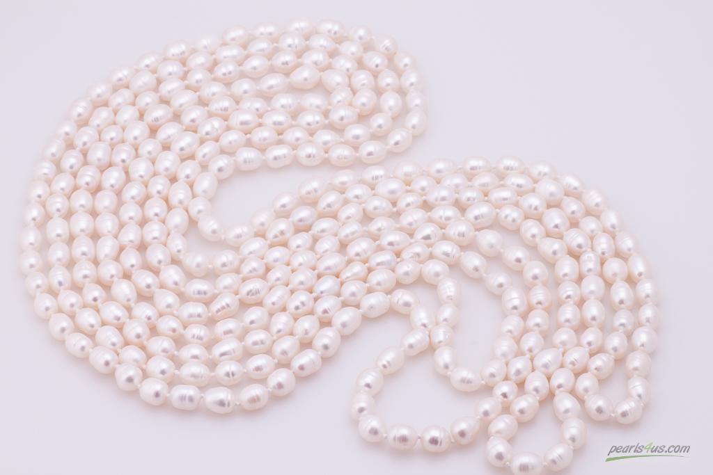 Garās rīsu formas pērles