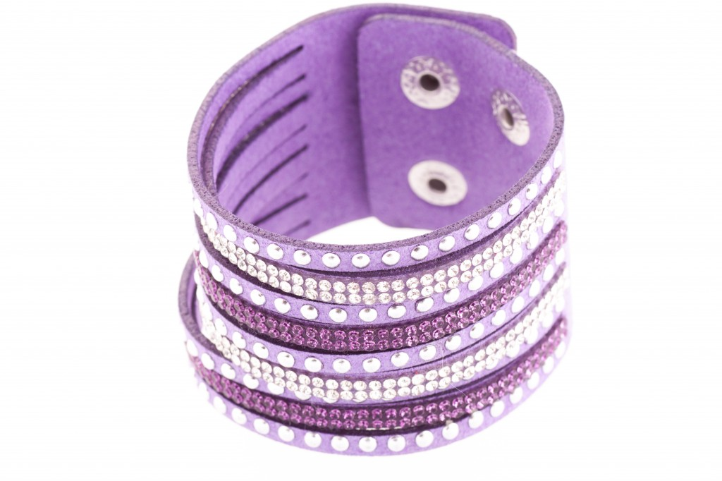 Rokassprādze- violetie kristāli