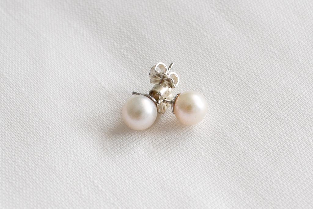 Upes pērļu auskari