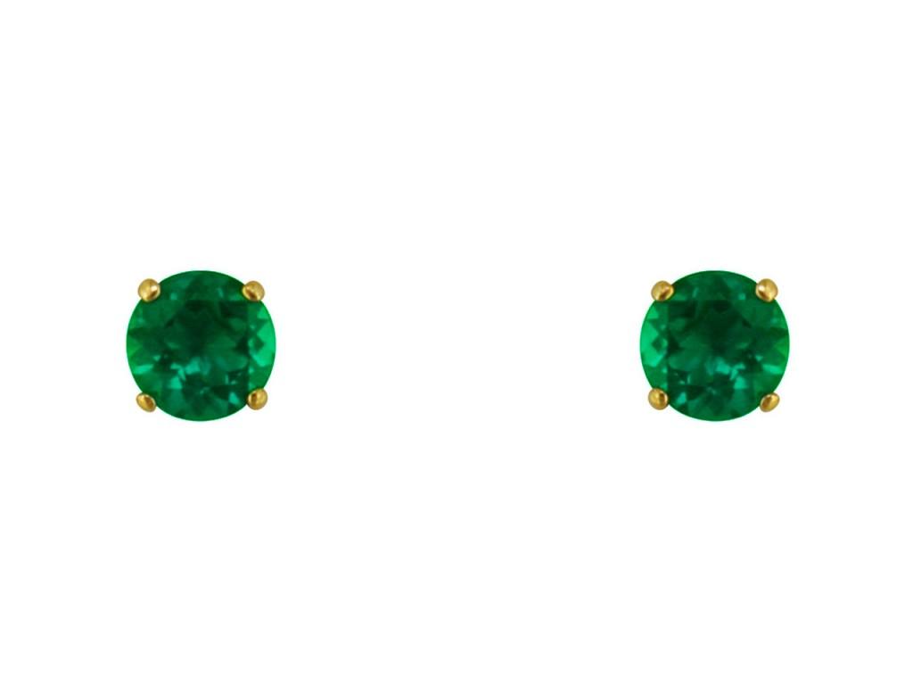 Smaragda auskari, zelts