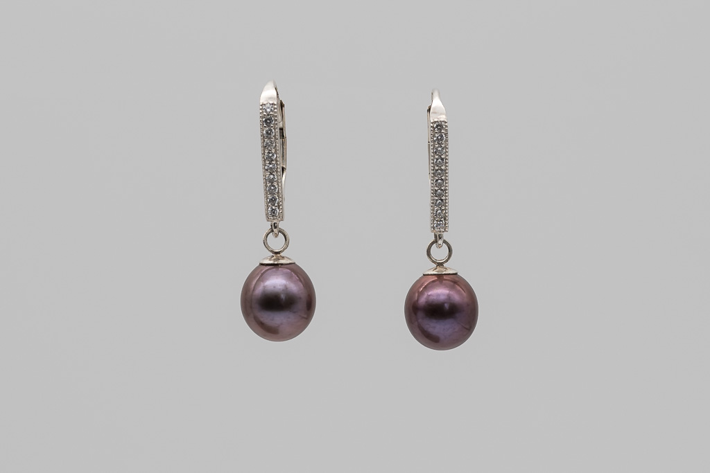 Brūnās pērles, auskari