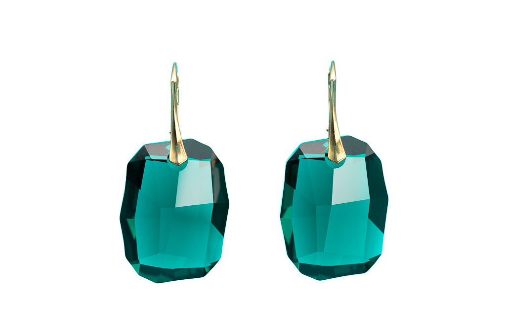 Swarovski Silver Night emerald cut