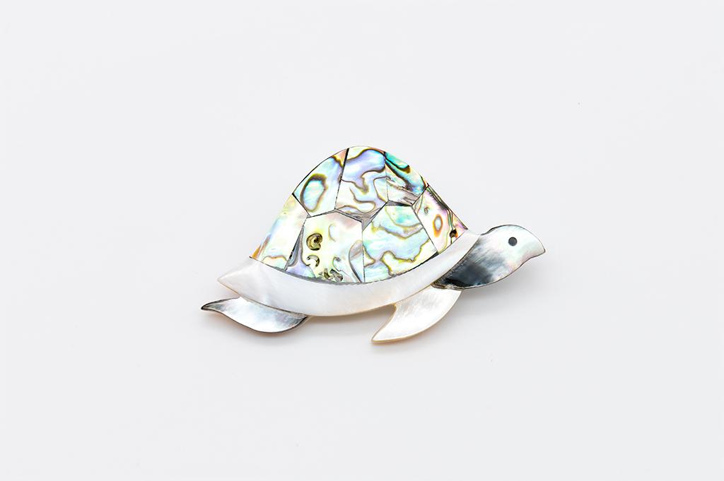 Abalone bruņurupucīša piespraude