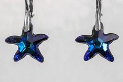 Zilās Swarovski zvaigznes