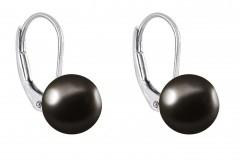 Tumšie pērļu auskari