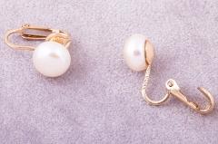 Pērļu klipši ar zeltu