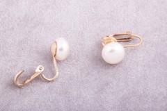 Krēmkrāsas pērļu klipši