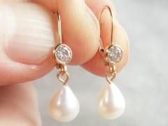 Pērļu lāsītes- auskari