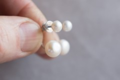 Dubultie pērļu auskari