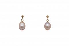 Mazo pērļu auskari
