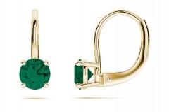 Smaragds, zelts GF 14k