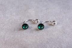 Dubulie zaļie auskari