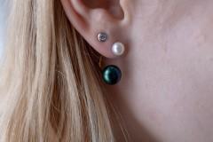 Dubultie auskari, pērles