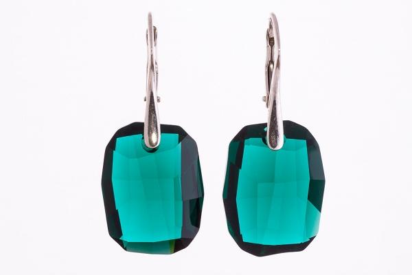 Emerald kristālu auskari