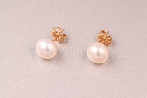 Pērļu auskari ar zeltu