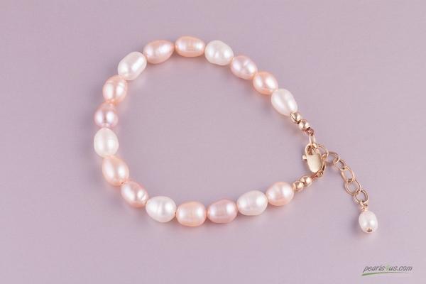 Zeltaino pērļu rokassprādze