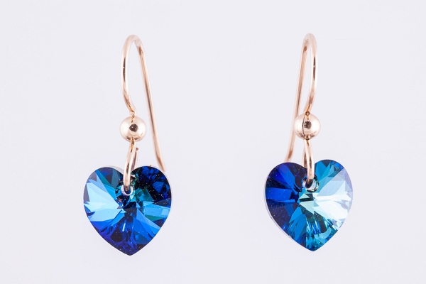 Swarovski hearts earrings