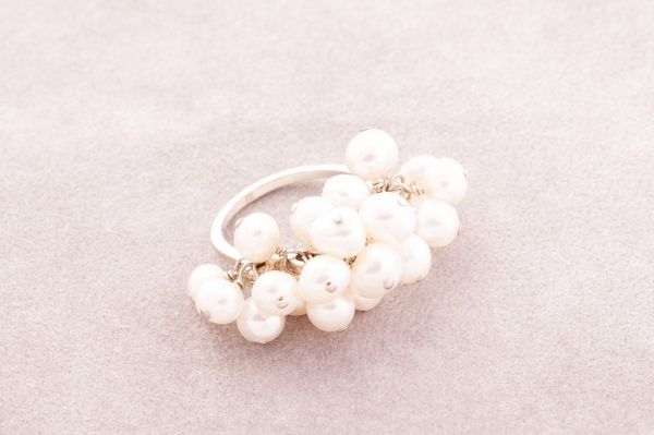 Silver coctail ring