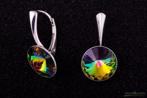 Colourfull Swarovski earrings