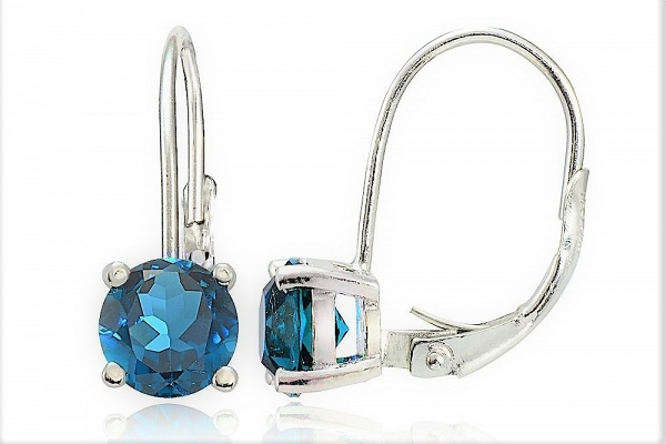 Blue Zirconia Earrings