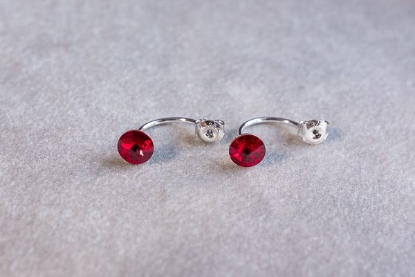 Red double earrings