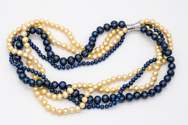 Yellow and blue pearls