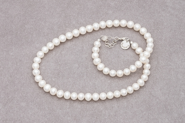Pearls with silver