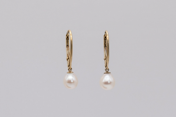 White Cultured Pearl earrings