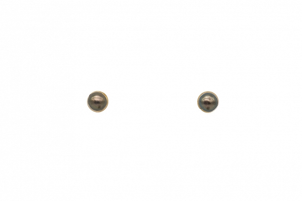 Pearl earrings Gold Bezel
