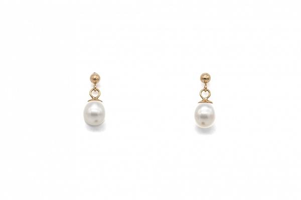 AAA pērļu zelta auskari