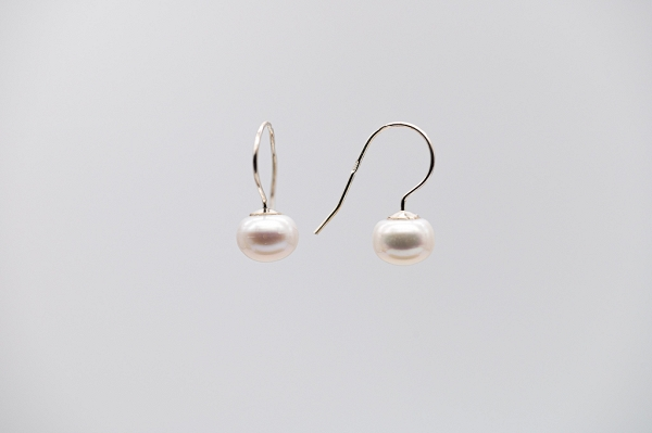 Earrings, pearls 8-8.5mm