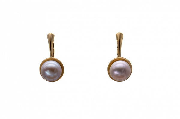 Brown hue Freshwater Cultured Pearl earrings