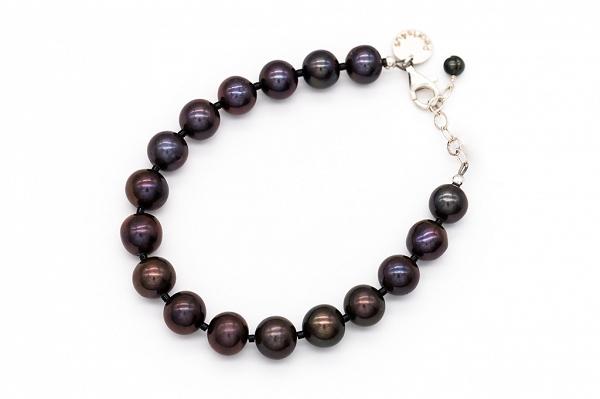 Dark brown AA pearl bracelet