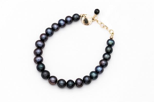 Dark grey pearl bracelet