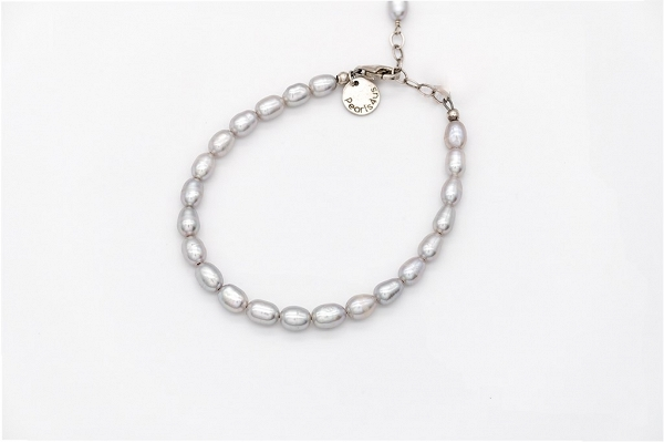 Lavander colour rice Pearl bracelet