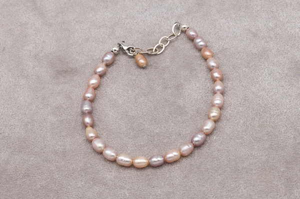 Three colour Pearl bracelet