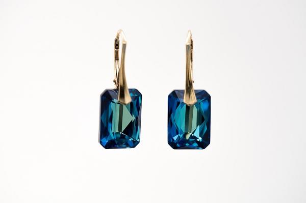 Swarovski Bermuda Blue emerald cut