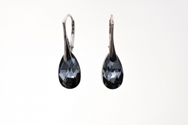 Swarovski Silver Night Drops