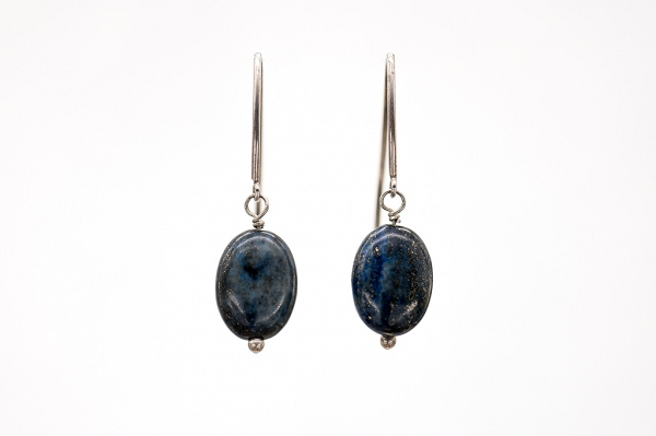 Lapis Lazuri oval earrings