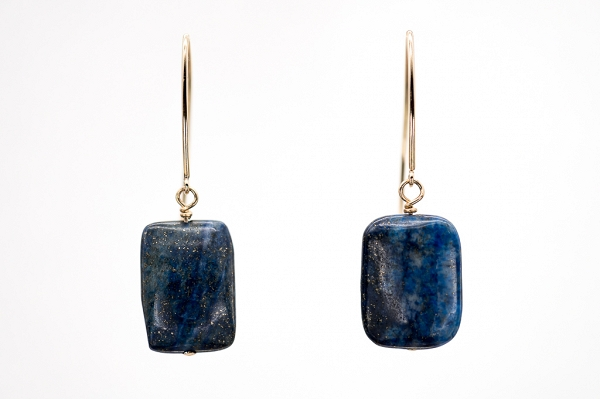 Lapis Lazuri Rectangular earrings