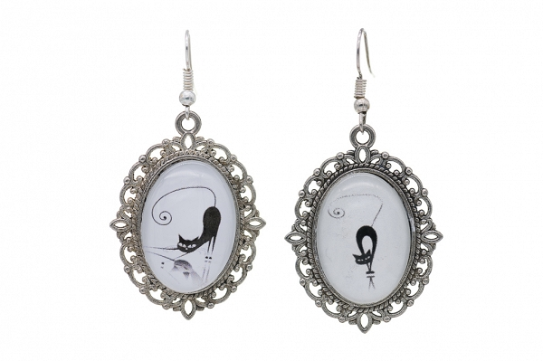 Cats motives, earrings