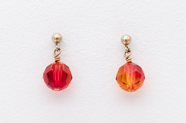 Swarovski earrings- Sun