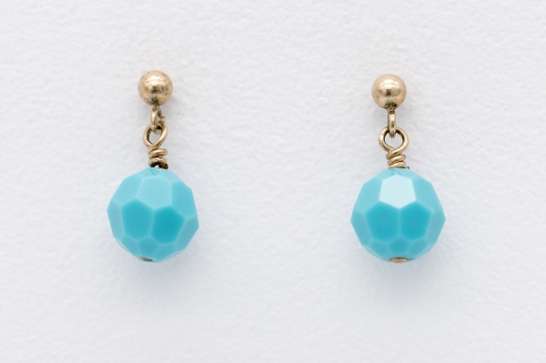 Swarovski earrings- Turquoise
