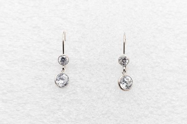 Earrings Double Cubic zirconia