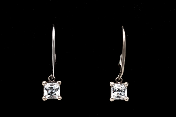Earrings Princess cut zirconia