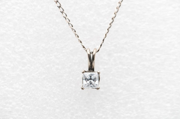 Princess cut Zircon necklace