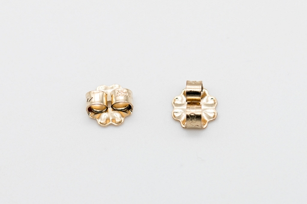 Yellow gold-filled friction ear nut