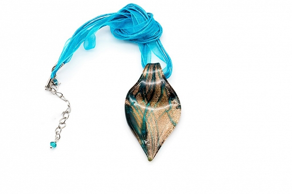Bronze colour Venetian glass pendant